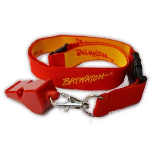 LICENSED BAYWATCH ® LANYARD & WHISTLE SET